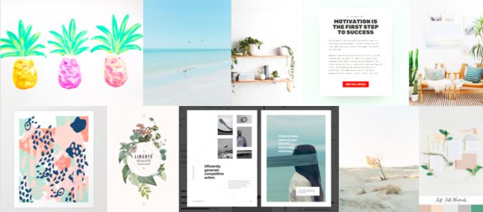 Sarah Proper Design LLC's website moodboard