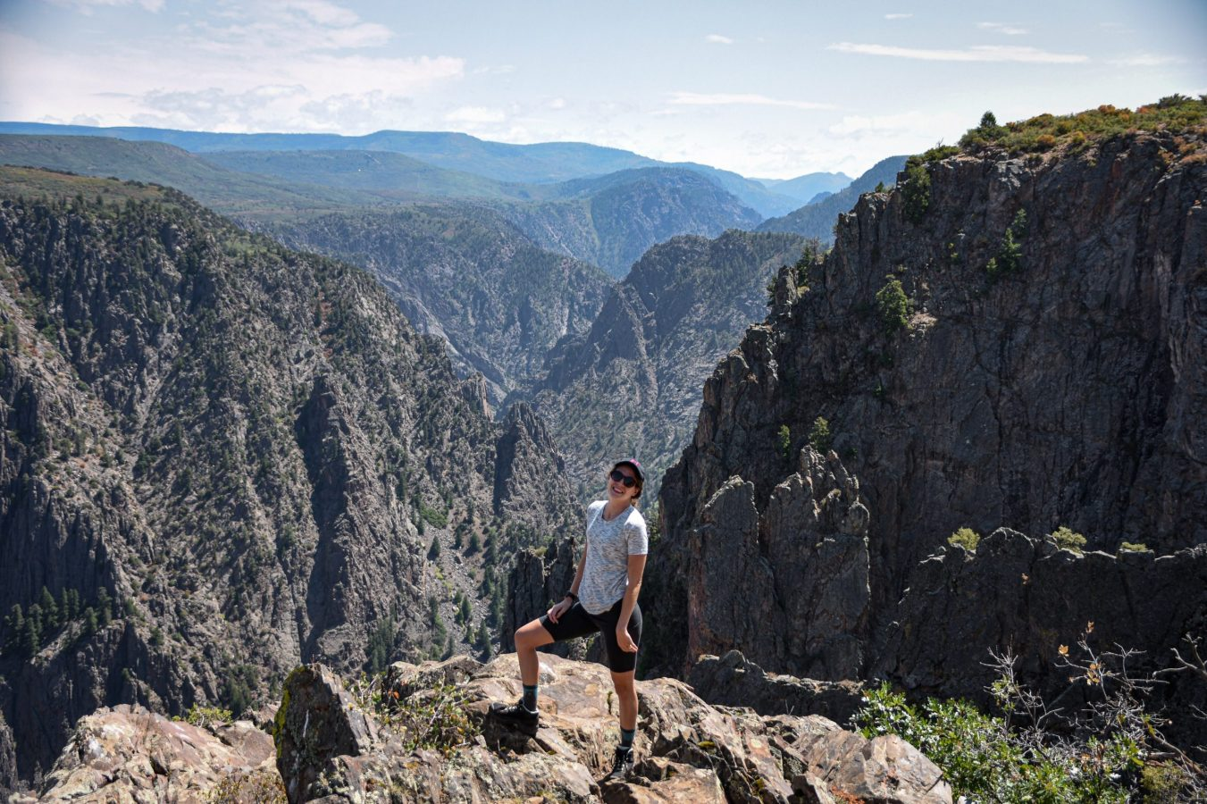 Sarah Proper at Black Canyon of the Gunnison National Park, Colorado